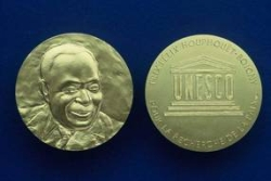 The Félix Houphouët-Boigny Peace Prize gold medal. © UNESCO.