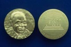 The Félix Houphouët-Boigny Peace Prize gold medal. © UNESCO.
