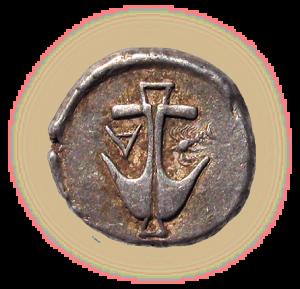 Monnaie d' argent de la ville d'Apolonia, Ve siècle av. J.-C