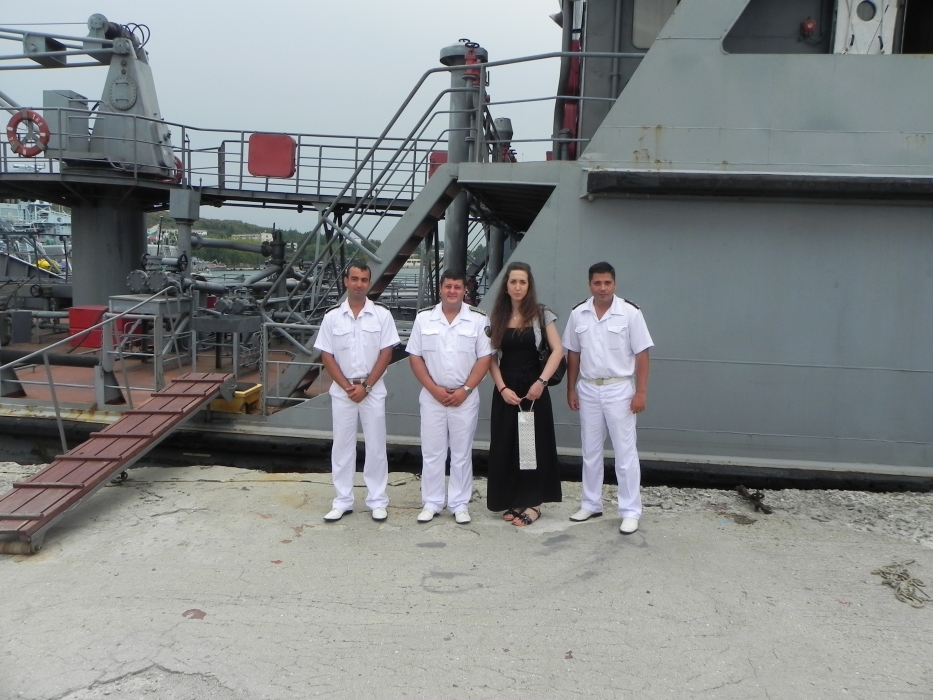 Ms. Nevena Arnautska during a visit to Naval Base Burgas