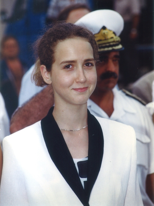 Photo of Ms. Nevena Arnautska during the baptism of the ship in 2004