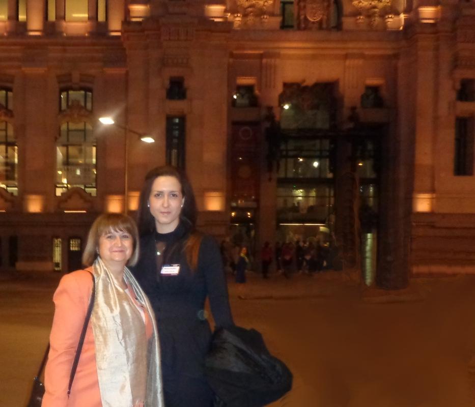 Mrs. Lyubov Draganova and Miss Nevena Arnautska - representatives of the Sozopol Foundation