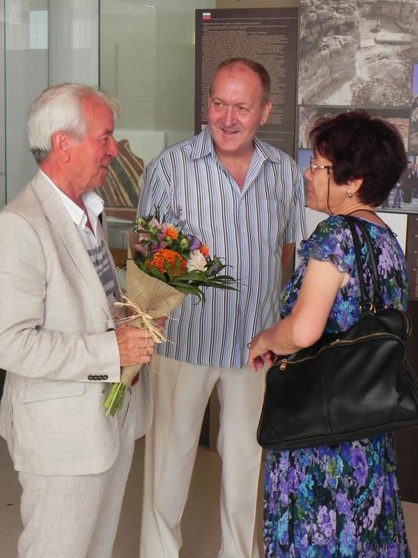 Проф. К. Попконстантинов, г-н К. Арнаутски и г-жа Хр. Ангелова