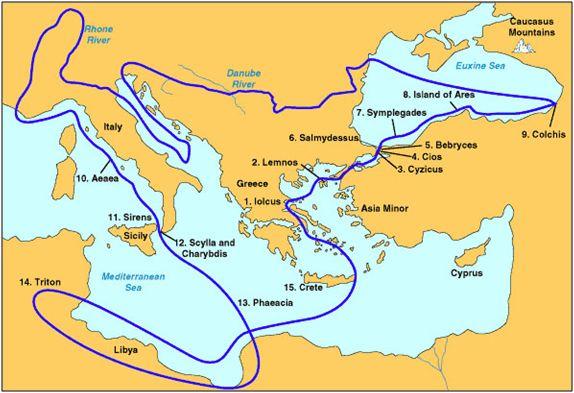 Маршрут на похода на аргонавтите