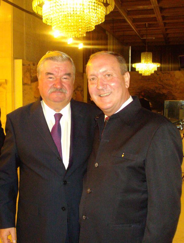 His Excellency Mr. Isakov, Ambassador of the Russian Federation in the  Republic Bulgaria and Mr. Kiril Arnautski